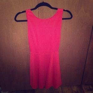 Red Backless Mini Dress